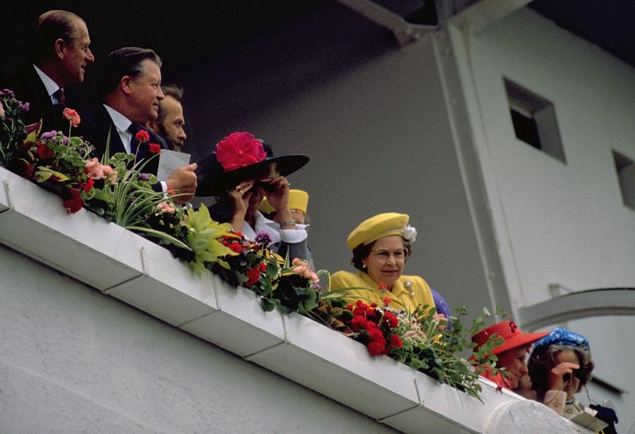 The Queen At Derby Day 1988 Photograph