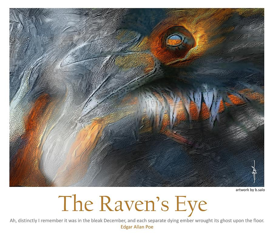 Ravens Painting - The Ravens Eye by Bob Salo