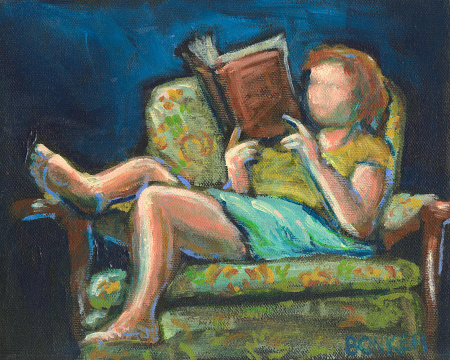 Library Painting - The Reader by Buffalo Bonker