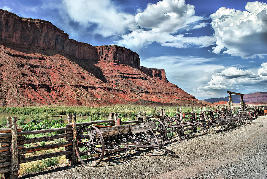 Country Photograph - The Red Cliffs by Gregory Ballos