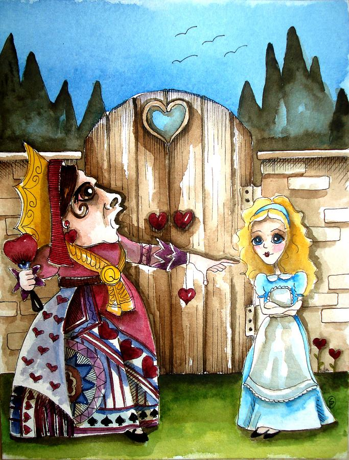 Alice In Wonderland Painting - The Red Queen by Lucia Stewart