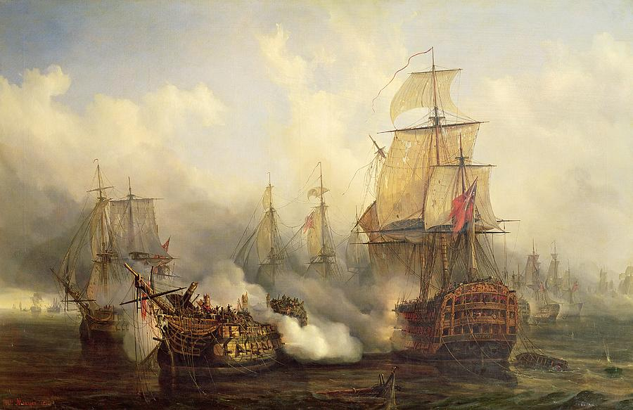 The Redoutable At Trafalgar Painting By Auguste Etienne