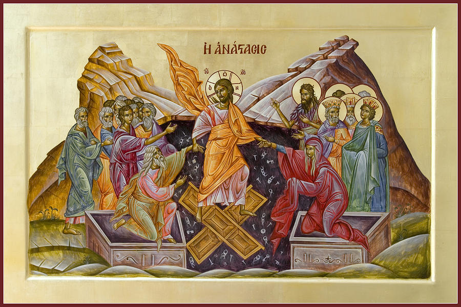 Icon Painting - The Resurrection Of Christ by Julia Bridget Hayes