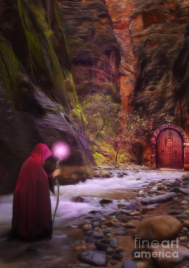 Enchantment Digital Art - The Road Less Traveled by John Edwards
