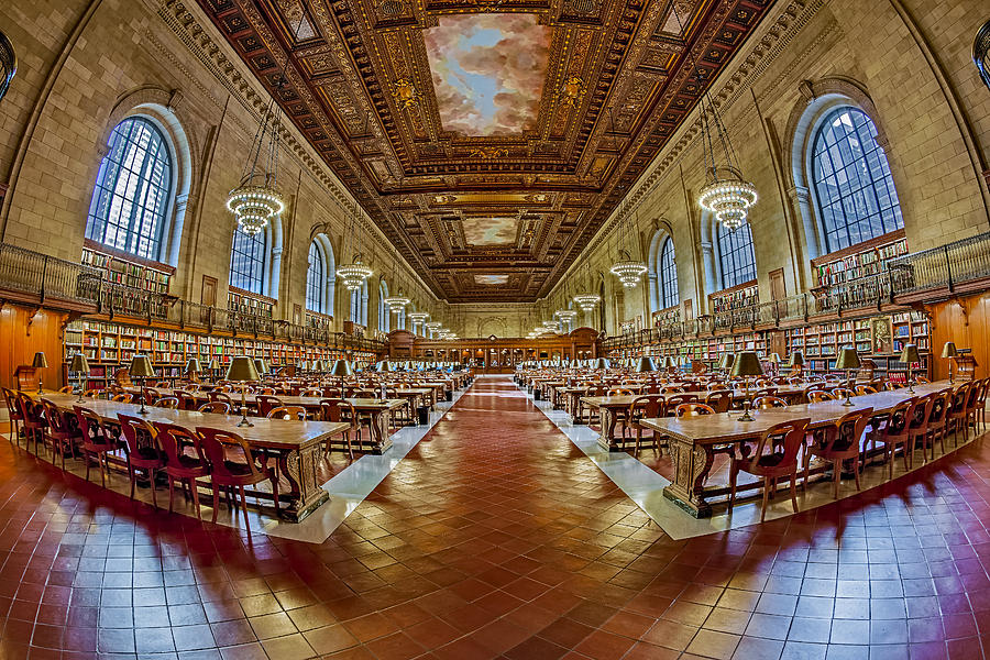 The New York Public Library Photograph - The Rose Main Reading Room Nypl by Susan Candelario