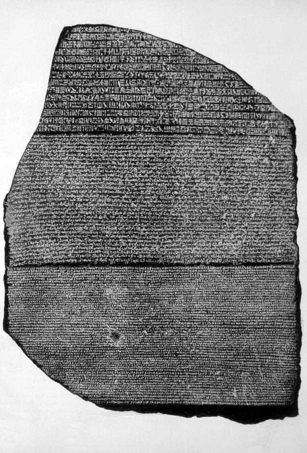 The Rosetta Stone  Basalt Slab  Rosetta Stone