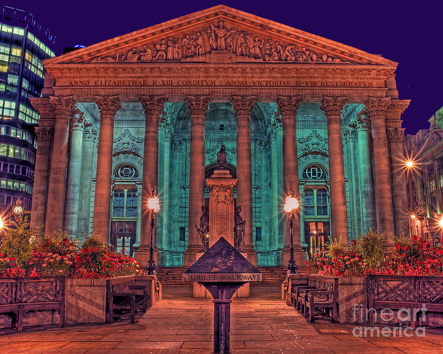 Royal Photograph - The Royal Exchange In The City London by Chris Smith