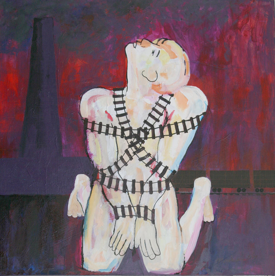 Judaica Painting - The Sacrifice by Mordecai Colodner