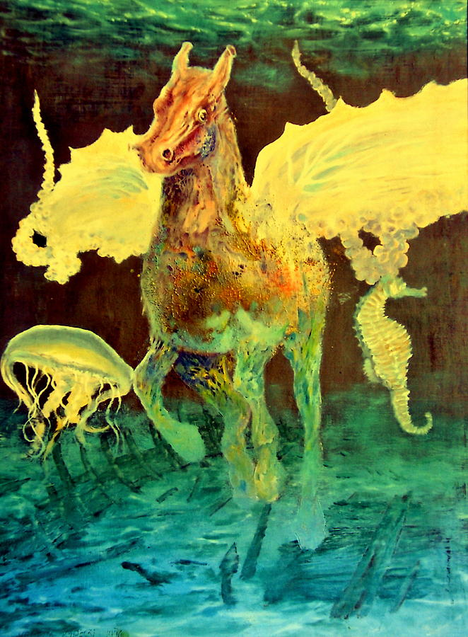 Henryk Painting - The Seahorse by Henryk Gorecki