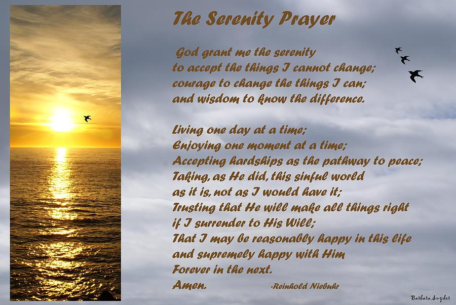 Barbara Snyder Digital Art - The Serenity Prayer by Barbara Snyder