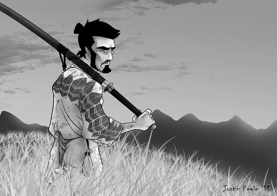 The Seventh Samurai Digital Art