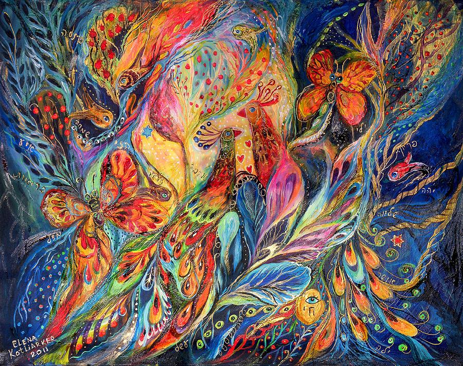 Original Painting - The Shining Of The Night by Elena Kotliarker