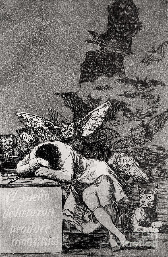 The Painting - The Sleep Of Reason Produces Monsters by Goya