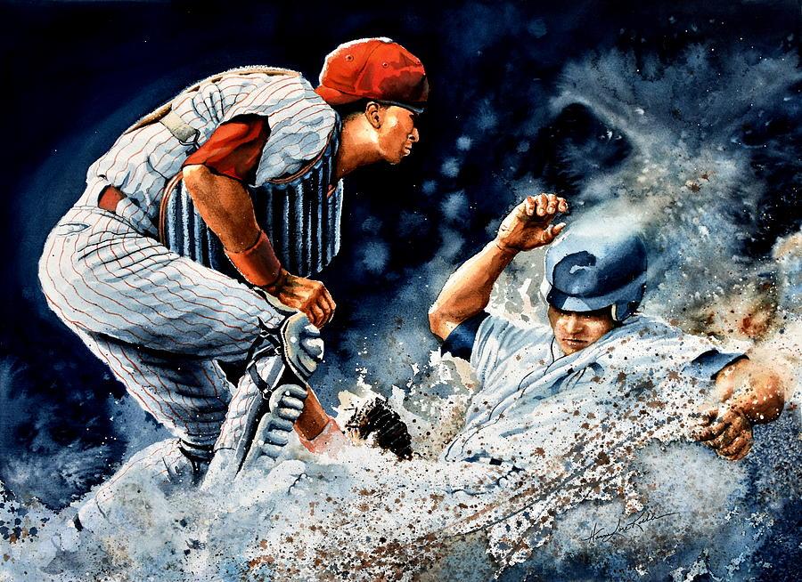 Sports Art Painting - The Slide by Hanne Lore Koehler