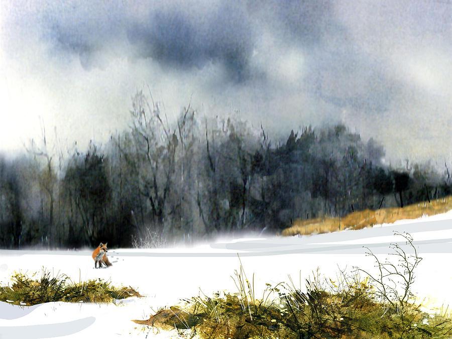 Animal Painting - The Sly Fox by Paul Sachtleben