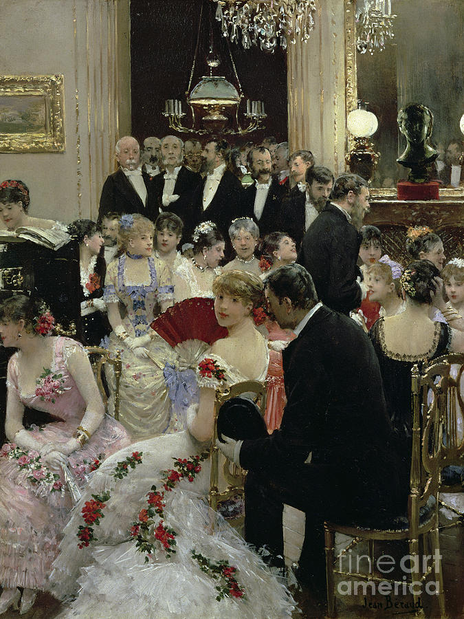 The Painting - The Soiree by Jean Beraud