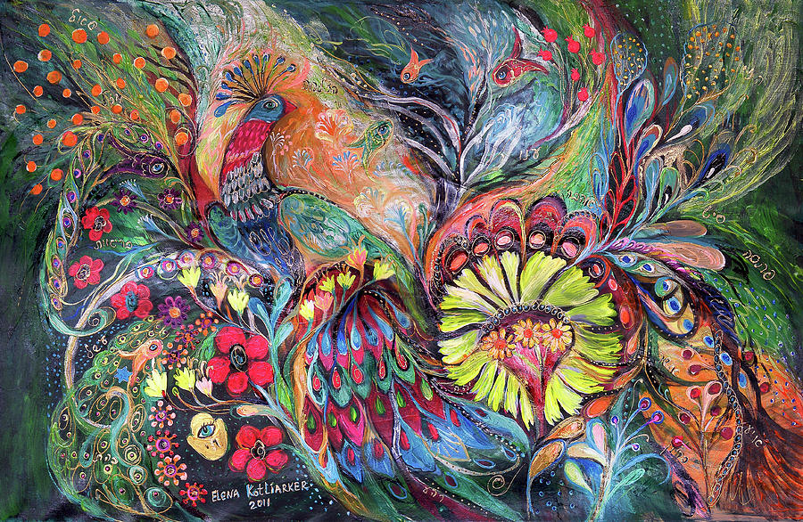 Painting - The Song Of Agada by Elena Kotliarker