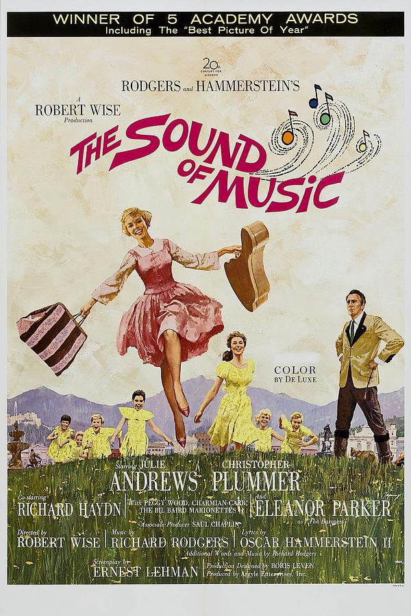 1960s Movies Photograph - The Sound Of Music, Poster Art, Julie by Everett
