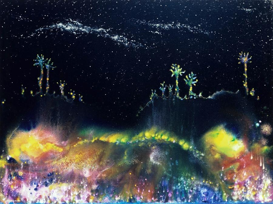 Spiritual Painting - The Starfields Of Andromeda by Lee Pantas