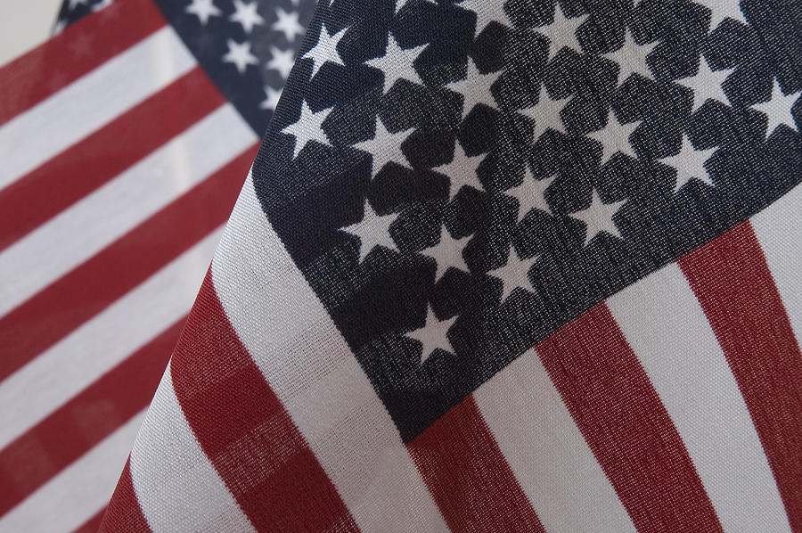 Flag Photograph - The Stars And Stripes by Jerry McElroy
