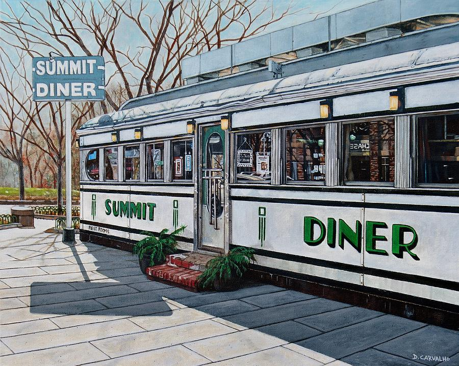 The summit diner painting by daniel carvalho for Diner painting