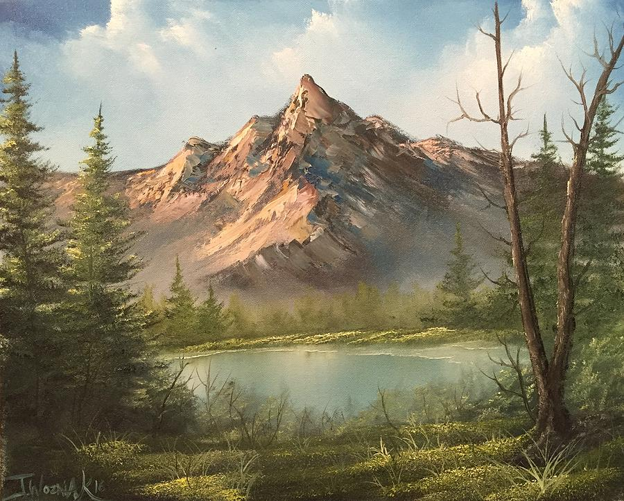 The Summit Painting by Paintings by Justin Wozniak