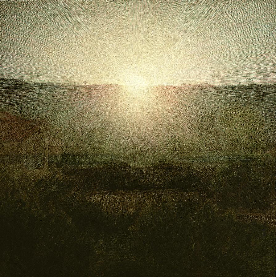 The Painting - The Sun by Giuseppe Pellizza da Volpedo