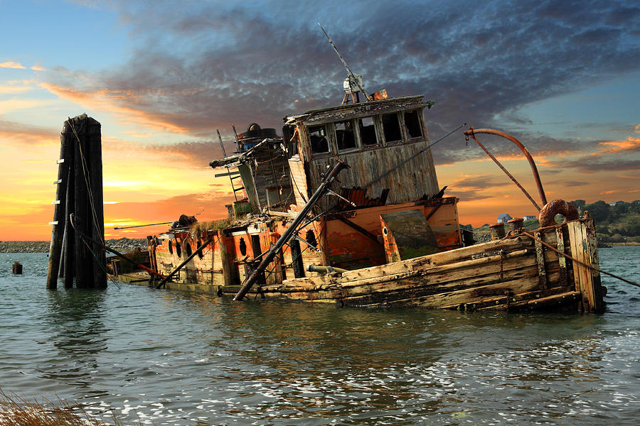 Boat Photograph - The Sunset Years Of The Mary D. Hume by James Eddy