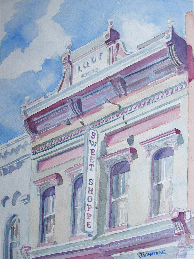 Shop Painting - The Sweet Shoppe by Jenny Armitage