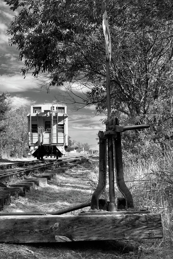 Caboose Photograph - The Switch And The Caboose by James Eddy
