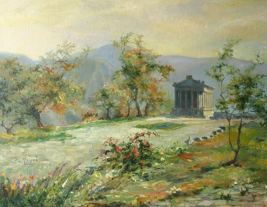 Armenia Painting - The Temple Of Garni by Tigran Ghulyan