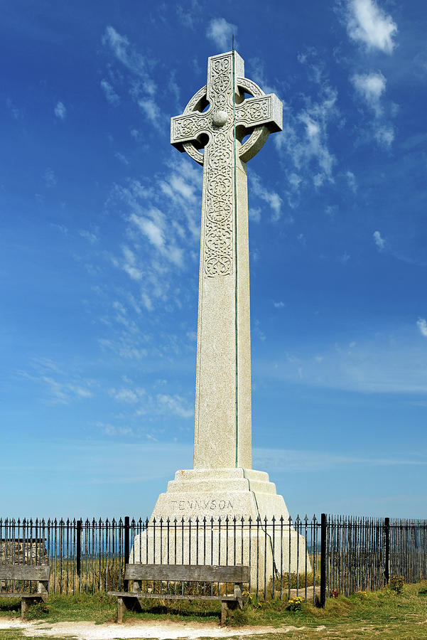 The Tennyson Monument On Tennyson Down Photograph