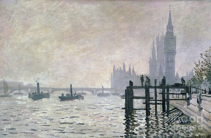 The Painting - The Thames Below Westminster by Claude Monet