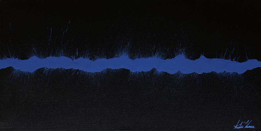 Blue Line Art Painting : The thin blue line painting by austin kucera