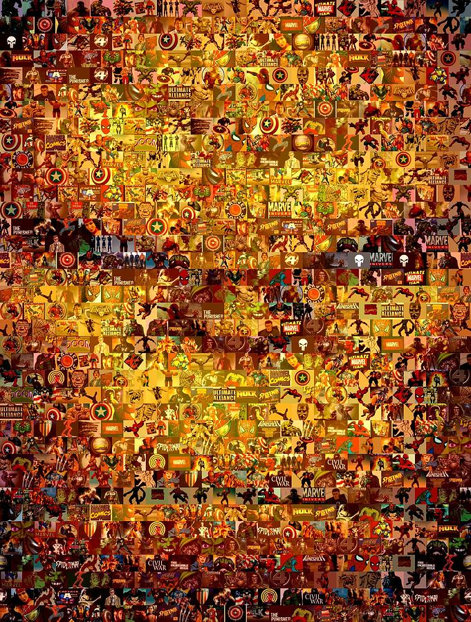 The Thing Mosaic Painting