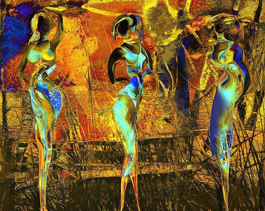 Africa Painting - The Three Graces by Anne Weirich