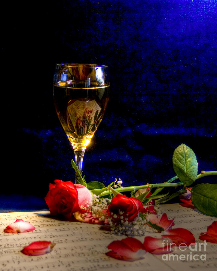 Wine Photograph - The Toast by Sophie De Roumanie