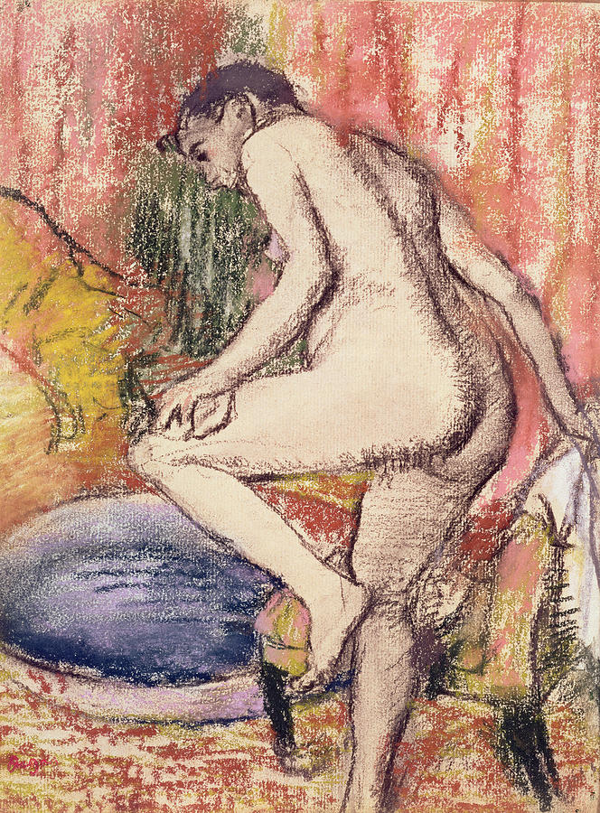 The Pastel - The Toilet by Edgar Degas