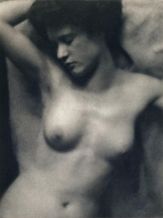 Female; Portrait; Black And White Photograph; Nude; Breasts Painting - The Torso by White and Stieglitz