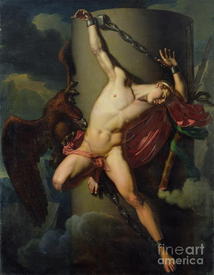 The Torture Of Prometheus Painting - The Torture Of Prometheus by Jean-Louis-Cesar Lair