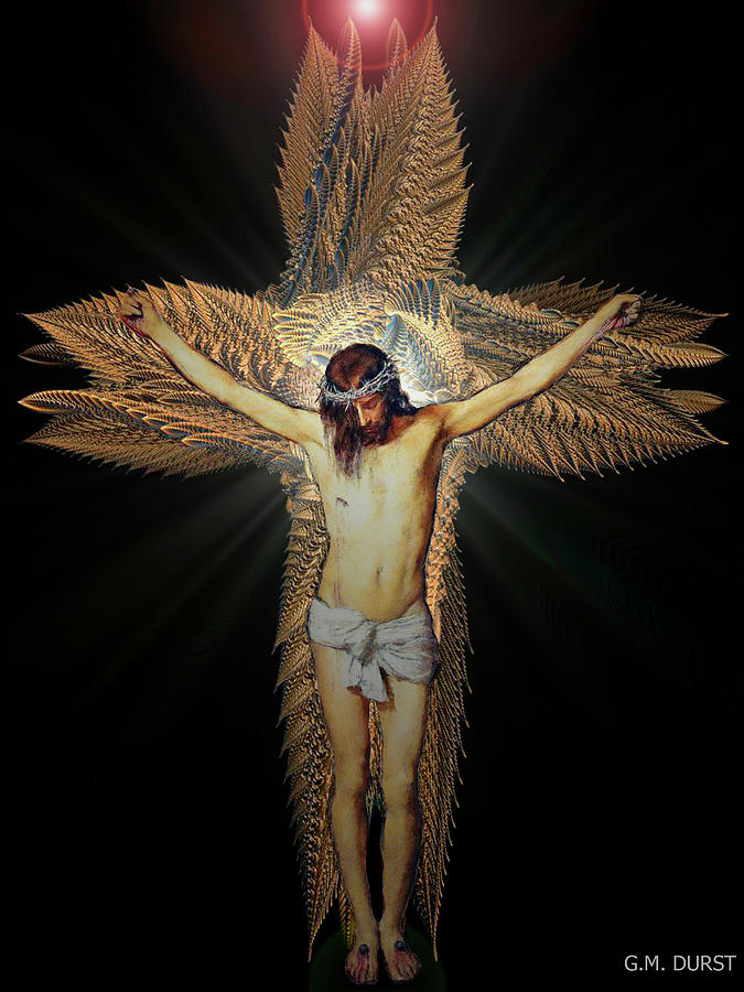 Christ Digital Art - The Transformation by Michael Durst