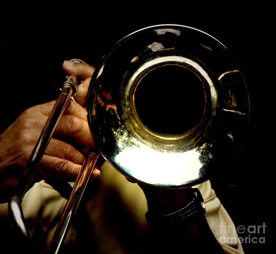 Trombone Photograph - The Trombone   by Steven  Digman