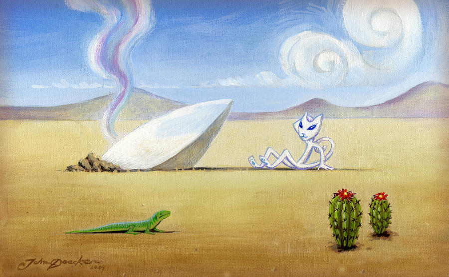 Deecken Painting - The Truth About Roswell by John Deecken