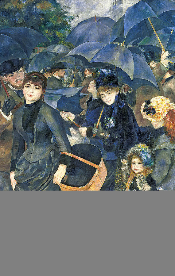 The Painting - The Umbrellas by Pierre Auguste Renoir