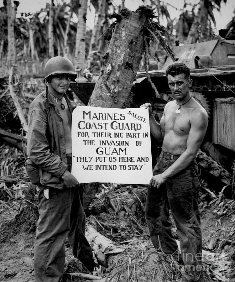 The U.s. Marines Salute The U.s. Coast Photograph