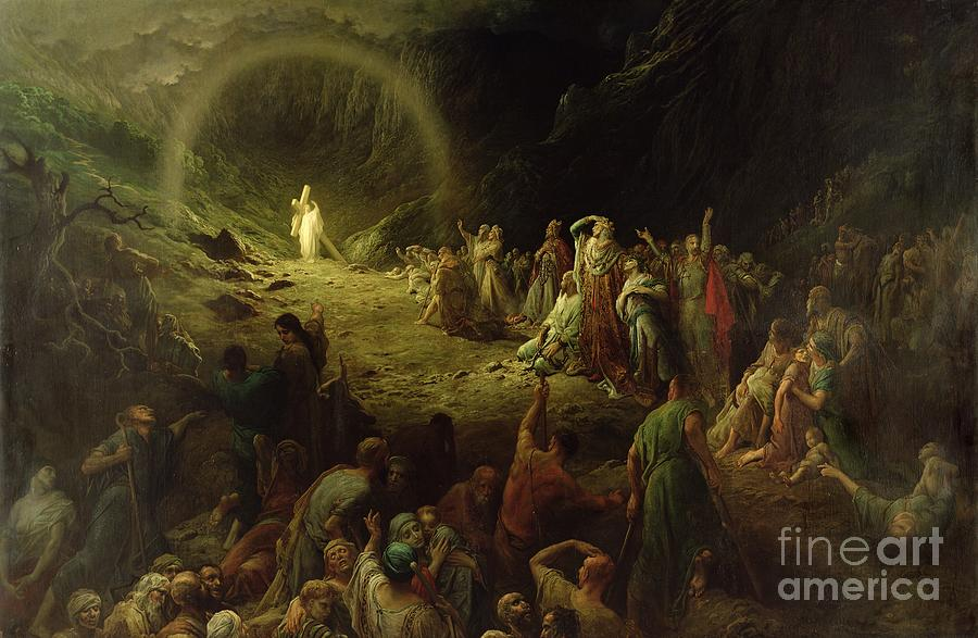 Dore Painting - The Valley Of Tears by Gustave Dore