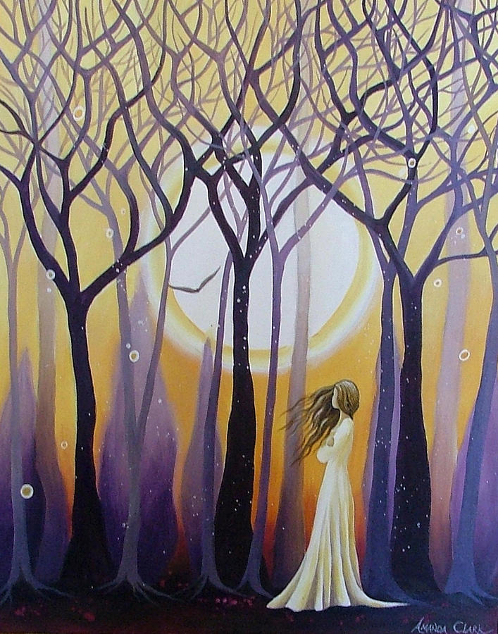 Acrylic Painting - The View by Amanda Clark