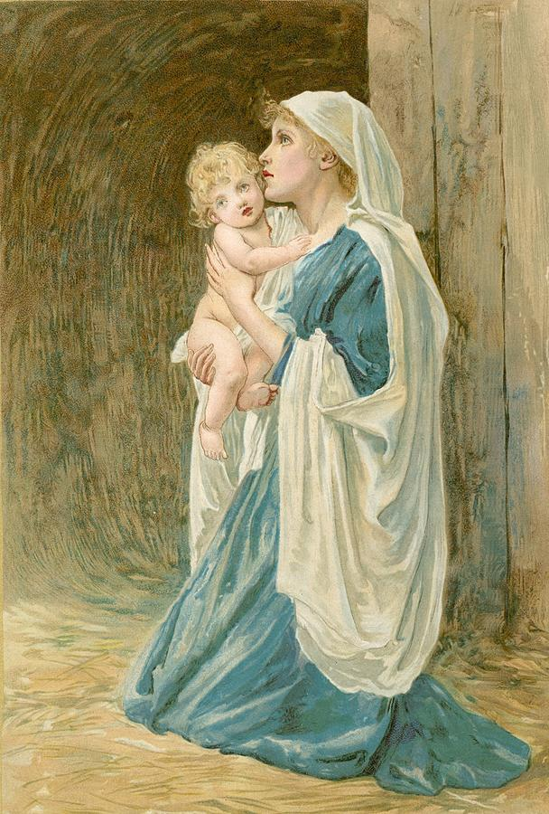 The Virgin Mary With Jesus Painting