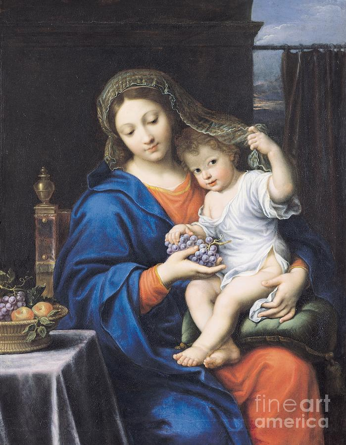 The Virgin Of The Grapes Painting