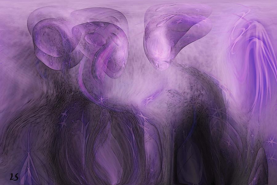 The Visitors Digital Art - The Visitors by Linda Sannuti